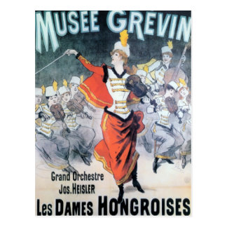 Vintage French Music Poster Post Cards