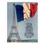 Vintage French National Flag & Eiffel Tower Post Cards