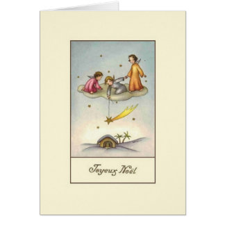 Vintage French Nativity Joyeux Noël Christmas Card