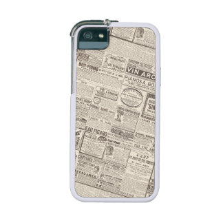 Vintage French Newspaper Ads Products for Women iPhone 5/5S Case