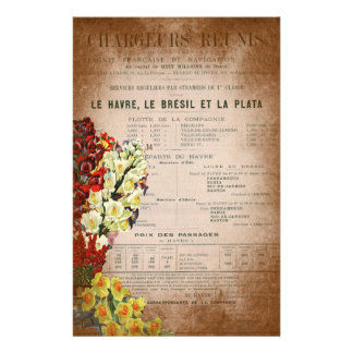 Vintage French Newspaper Journal Scrapbooking Page Stationery