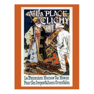 Vintage French Oriental Import business ad (2) Postcard