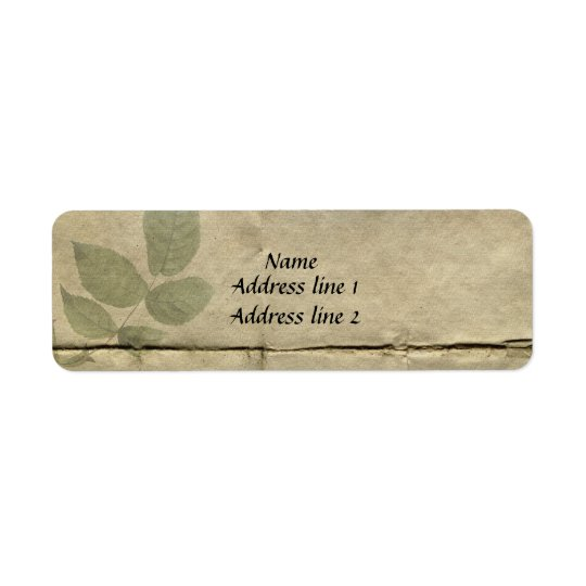 Vintage French Paper Address Labels