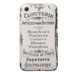 Vintage French Paris  Label IPONE Case Cover 3 iPhone 3 Cases
