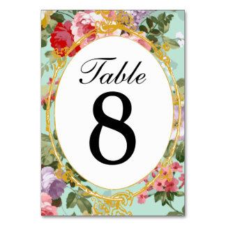 Vintage French Parisian Pink & Red Roses Tablecard Table Cards