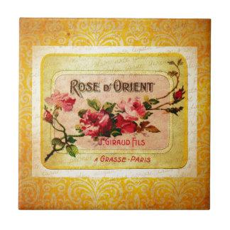 Vintage French Perfume Label Ceramic Tiles