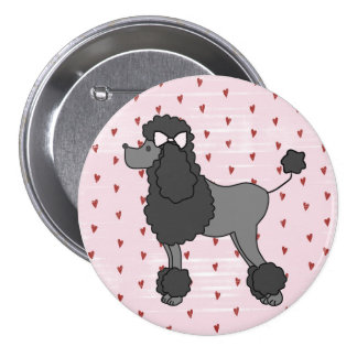 Vintage French Pink Poodle Pin