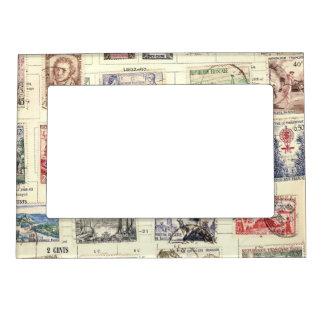 Vintage French Postage Photo Frame Magnets
