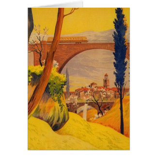 Vintage French Railroad Travel Card