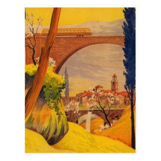 Vintage French Railroad Travel Postcard
