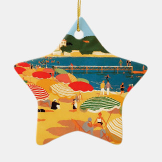 Vintage French Riviera Beach Christmas Ornament