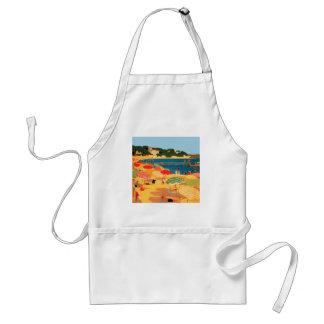 Vintage French Riviera Beach Standard Apron
