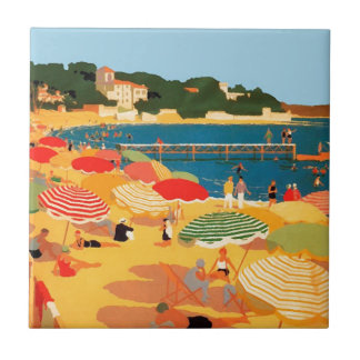 Vintage French Riviera Beach Tile