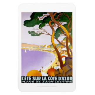 Vintage French Riviera, France - Vinyl Magnet