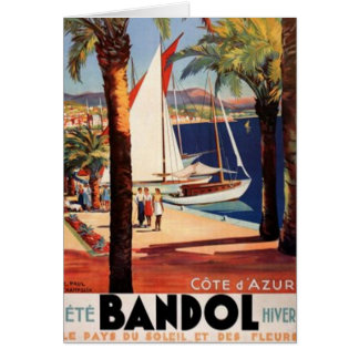 Vintage French Riviera, France - Greeting Card