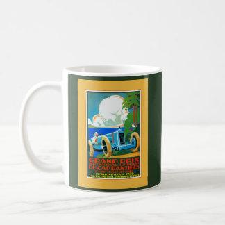 Vintage French Riviera Racing cars Grand Prix 1929 Basic White Mug