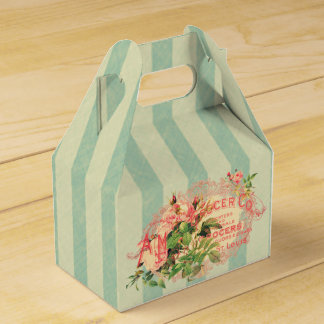 Vintage French, roses and advertising postcard Favour Box