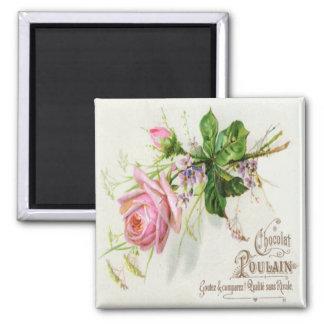 Vintage French Roses Label Magnet