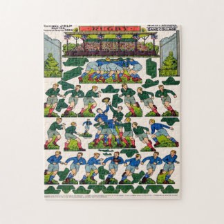 Vintage French Rugby Jigsaw Puzzle