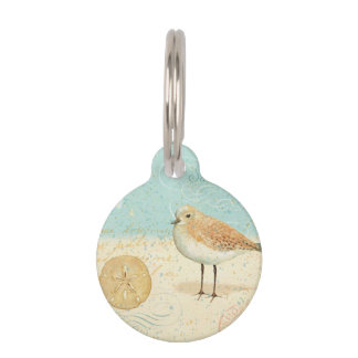Vintage French Sand Piper Pet Tag