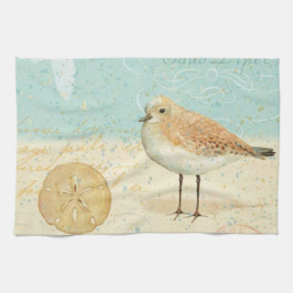 Vintage French Sand Piper Tea Towel