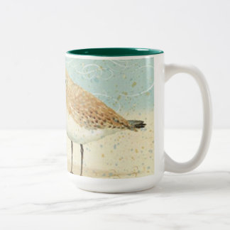 Vintage French Sand Piper Two-Tone Coffee Mug
