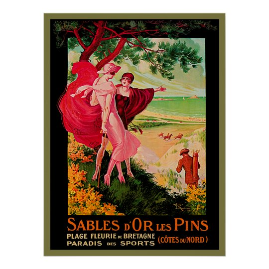 Vintage French Seaside Poster