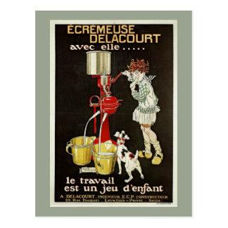 Vintage French Separator Machine Ad Postcard