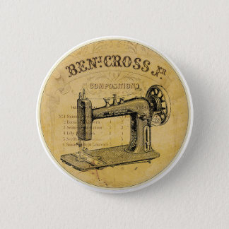 Vintage French Sewing Machine Button Pin