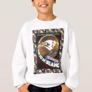 Vintage French Ski Resort Poster Sweatshirt