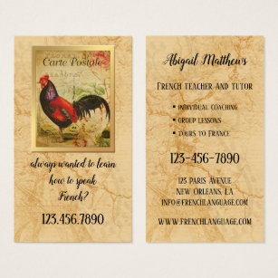 For history teacher business cards business card printing zazzle uk vintage french teacher and tutor business card reheart Image collections