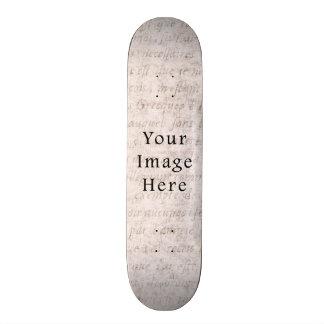 Vintage French Text Parchment Paper Background 21.6 Cm Old School Skateboard Deck