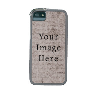 Vintage French Text Parchment Paper Background iPhone 5 Case