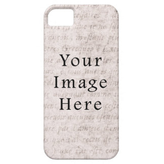 Vintage French Text Parchment Paper Background iPhone 5 Covers