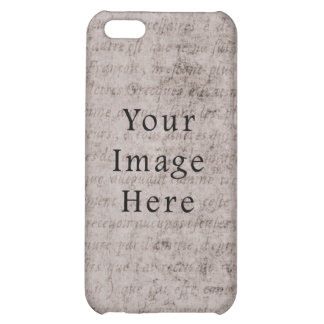 Vintage French Text Parchment Paper Background iPhone 5C Covers