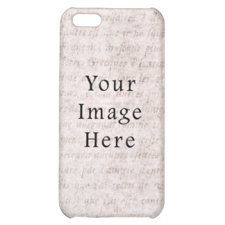 Vintage French Text Parchment Paper Background iPhone 5C Cases
