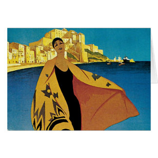 Vintage French Travel Greeting Card