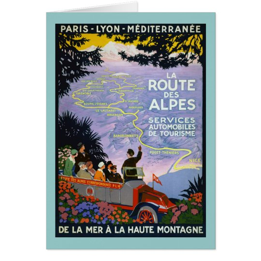 Vintage French Travel Poster Art Card