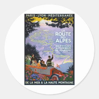 Vintage French Travel Poster Art Sticker