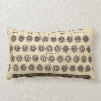 Vintage french typewriter guide lumbar cushion