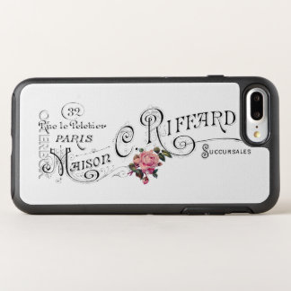 Vintage French Typography and Roses OtterBox Symmetry iPhone 8 Plus/7 Plus Case
