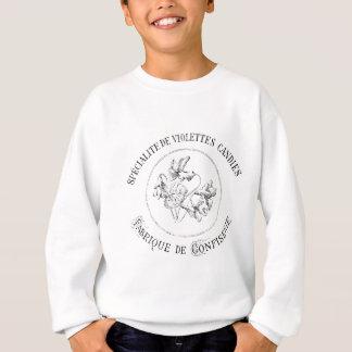 vintage french  typography violets design sweatshirt