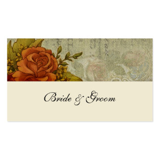 Vintage French Victorian Rose Place Cards Business Card Templates