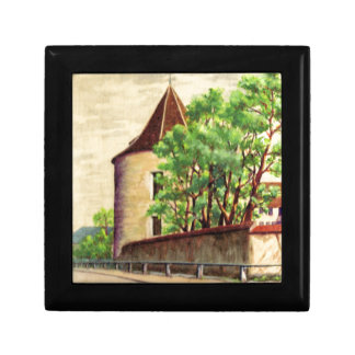 VIntage French watercolour A corner of a vinyard Gift Boxes