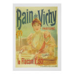 Vintage French woman in bathroom elegant Paris Poster