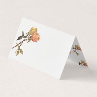 Vintage Friendship Roses Birthday Party Table Place Card