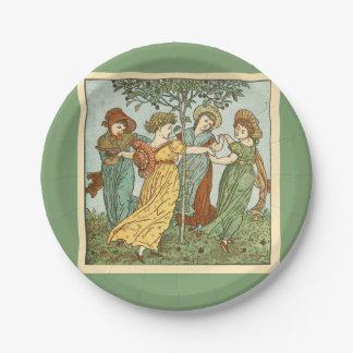 Vintage friendship 7 inch paper plate