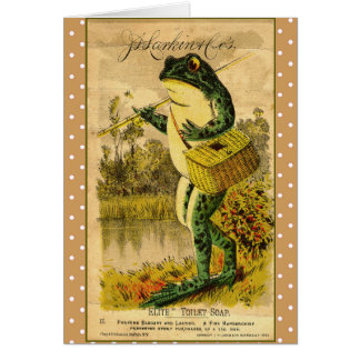 Vintage Frog Artwork Card
