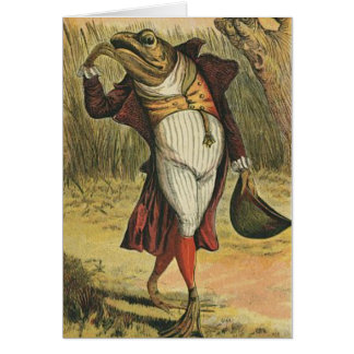 Vintage Frog in His Finery, Card