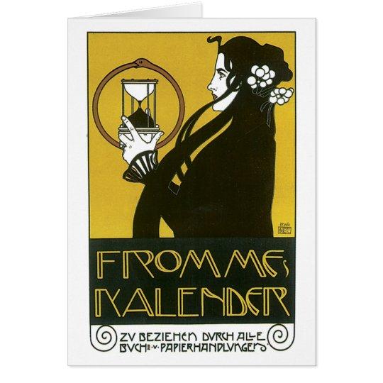 Vintage Frommes Kalender Art Deco Ad Card